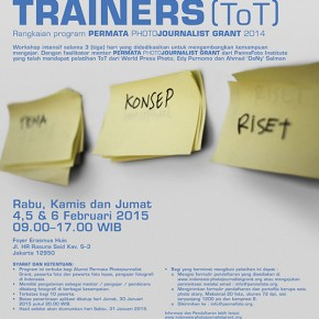 Dibuka Pendaftaran  TRAINING of TRAINERS (ToT) - 4, 5 & 6 Feb. 2015