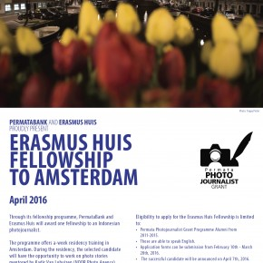 Erasmus Huis Fellowship to Amsterdam - April 2016