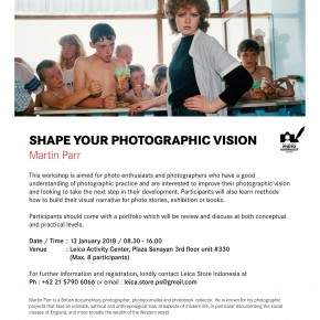 Shape your Photographic Vision - Martin Parr | Jakarta, 13 Jan 2018