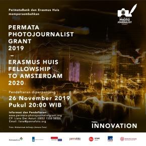 PERMATA PHOTOJOURNALIST GRANT 2019 - ERASMUS HUIS FELLOWSHIP TO AMSTERDAM 2020 | Pendaftaran Diperpanjang 26 Nov 2019, pukul 20:00 WIB