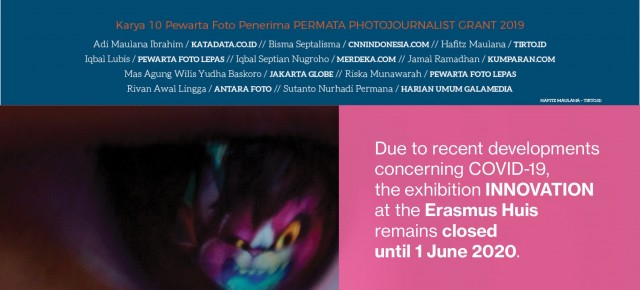 IMPORTANT NOTICE! The exhibition INNOVATION at Erasmus Huis remains closed until 1 June 2020
